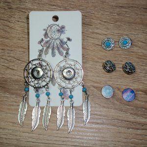 12mm Snap Jewelry Dream catcher Earrings Snaps Lot